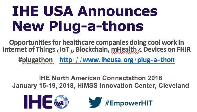 IHE USA Plug-A-Thon 2018 Info